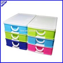 ECO-friendly cheap 3 tier desktop mini stackable plastic storage drawers