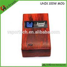 Wood box mod Unik variant China factory price variant voltage e tech