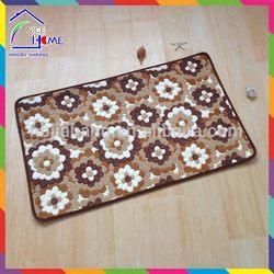 Flower top level crazy Selling sheep wool floor rug