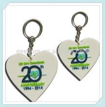 custom soft pvc 50-year calendar keychain