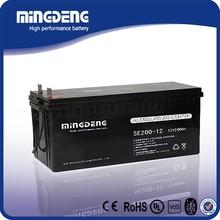 MINGDENG 12v 200ah Manufacturing 12v 200Ah Deep Cycle Gel Solar Battery for inverter UPS