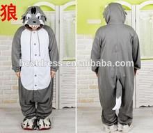 New onesie onesieanimal pajama cosplay wholesale onesie for adult hot sale grey wolf