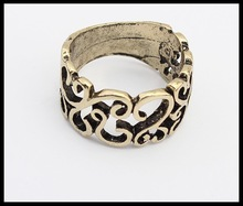2014 Fashion New Antique Hollow Ring, Custom Made Cheap Personalized Ring