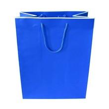 Customized logo printed handle paper shopping bag