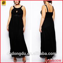 XXX women pleated embellished maxi dress wholesale plus size women clothing