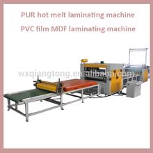 MDF laminating machine/ PVC film acrylic mdf hot melt glue laminating machine