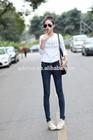 Korean fashion high waist pencil pants women jeans factory price high quality girls pants