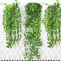 Gnw FLV012 moda verde Artificial Ivy folhas de videira falso folhagem flor Garland plantas início decoração