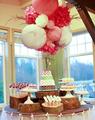 ronda de novia de rosa bola de papel linterna