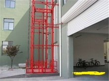 Electric rail type lift plaform for cargo