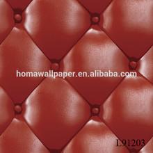 fashion multipurpose vinyl decoration washable luxury design soft 3d leather cloak wall covering