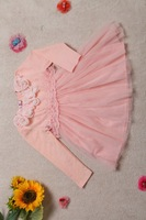 2015 hot fashion new children clothing girls dress birthday dress for baby girl