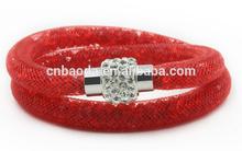 Fashion Stardust Style Double Wrap Magnetic Bracelet Mesh Bracelet