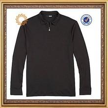 Mens Wicking 1/4 Zip Polo Shirt