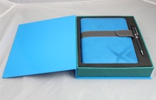 Hot Sale Christmas Set of Pu Leather Notebook Gift, Notebook With Gift Box