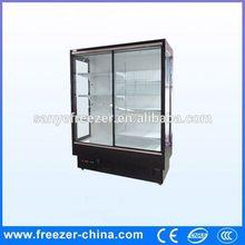 Glass door direct cooling supermarket refrigerated flower cooler