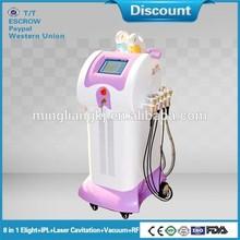 weifang 8 in 1 Elight+cavitation+vaccum+ rf ipl alexandrite laser machine