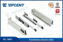 self closing Hot sale metal box topcent drawer slide