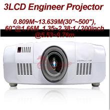 "Transparent LCD panel (*3, R/G/B) LCX119ACP/ADP-6/7/8 3*0.76"" 20000 Ansi Lumens WUXGA 1920*1200p Projector with 500"" Image"