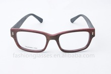 new glasses imitation/fake wood frame high quality acetate reading glasses with optical frame wayfarer style design