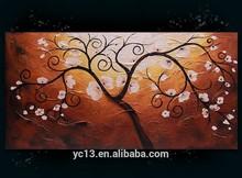 Modern home decor monet tree oil painting new arrival