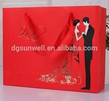 Laminated gift bag custom shopping bag square bottom paper bag