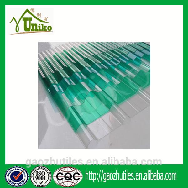 Plaques ondulees transparentes pour toiture metallique