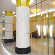 super white modern indoor decorative pillar