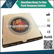 "Wholesale various size 6""8""10""12""14""16""custom 4C printing packaging bulk pizza boxes"