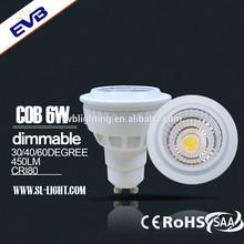 Eco-friendly 6w gu10 led spot light, shenzhen led light company