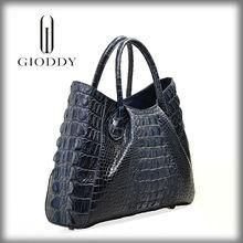 China alibaba Stock available genuine crocodile skin mature lady leather bags