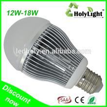 Aluminum & Plastic LED Bulb SAA CE RoHS E27 Led light 18W