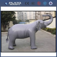 2014 high quality hot sale advertising realistic giant inflatable bouncy animal,elephant for promotion