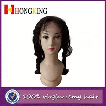 Virgin Indian Hair Natural Wave Full Lace Wig Made In China