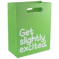 Wholesale luxury printed green paper shopping bag