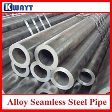 Seamless alloy steel tube for construction material with 4 tube