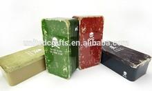rectangular tea tin/rectangular tin box/metal pencil box