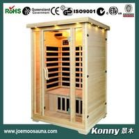 mini far infrared wood sauna room KL-200C-H
