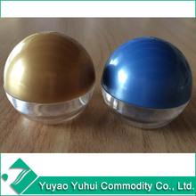 Round acrylic plastic beauty cream ball jar container