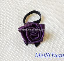 Purple /pink perfume decorative ribbon flowers with elastic loop