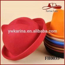 Fashion Cute Kids And Womens Cat Ears Design Wool Felt Hat