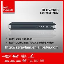 RLDV-2606 260MM internal usb dvd player fm radio +SD+WMA\/MP3\/MPEG4