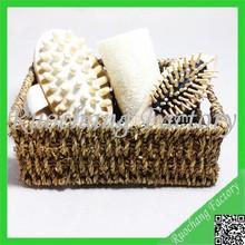 Wholesale bathroom furniture set in Basket with massager