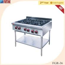 Commercial 6 burner gas kitchen stoves for restaurant manufacturers FGR-36
