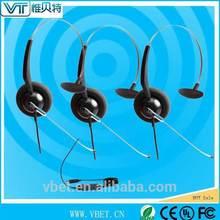 landline headset call center usb headset 150-6800Hz wideband audio processing