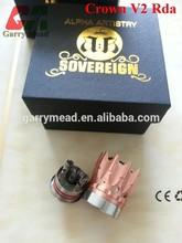 Garrymead tech clone Rebuildable atomizer copper crown v2 rda atomizer no leakage aris rda Lancia rda