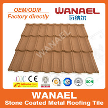2014 Popular Ocean Blue Stone Coated Metal Roof Tile For Villas China Supplier Famous Brand WANAEL Roofing