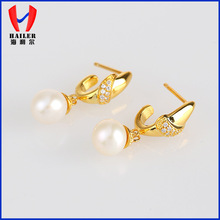 brilliant pearl eardrop for party
