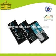 brand logo woven garment labels clothing labels, damask woven label for underwear/sportswear