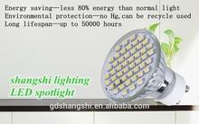 3W CE/RoHs GU10 led spotlight AC110V-240V quartz glass for commercial place